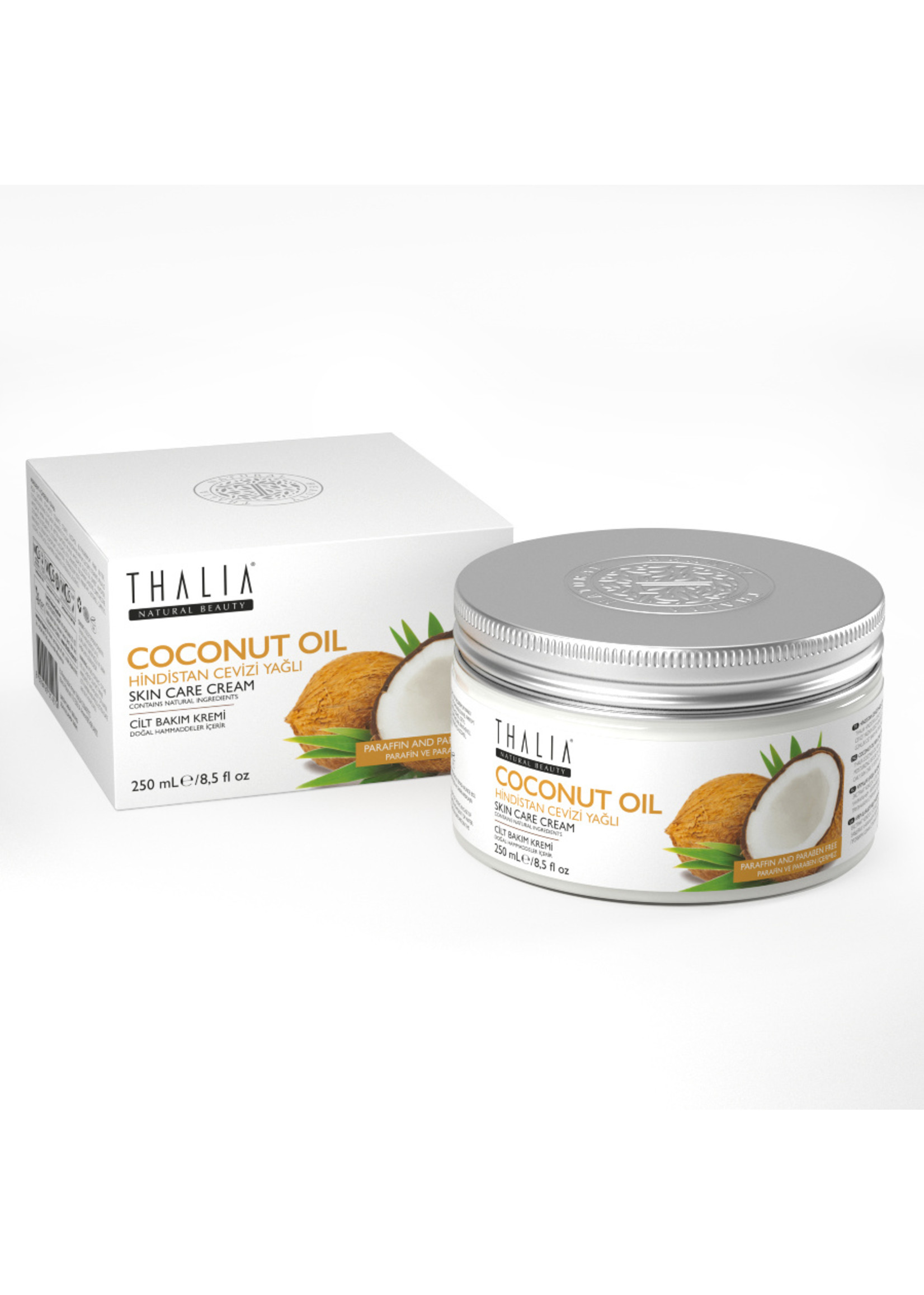 Coconut Oil Cilt Bakım Kremi - 250 ml