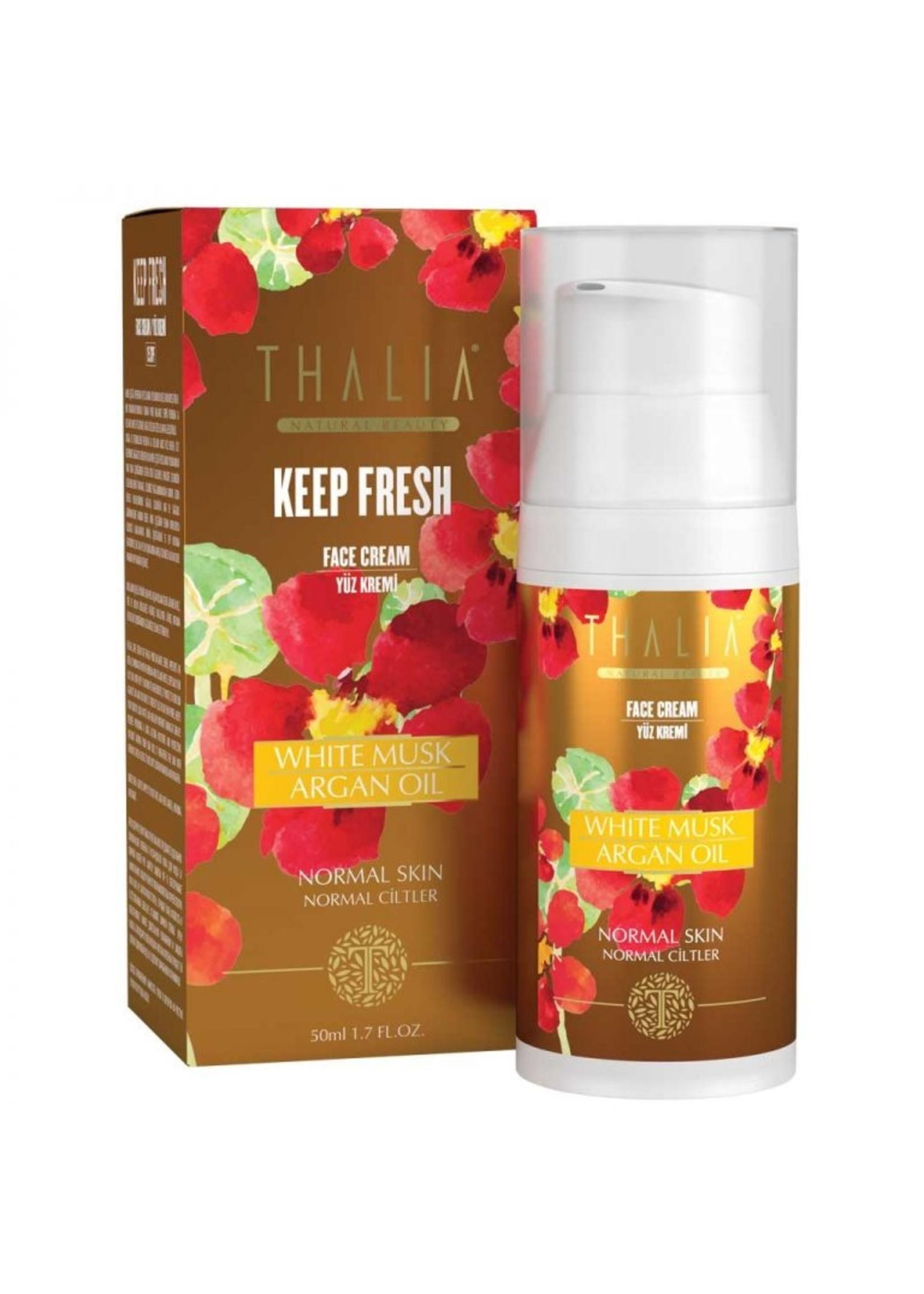 Thalia White Musk en Arganolie Gezichtscrème (SPF 15) 50 ml