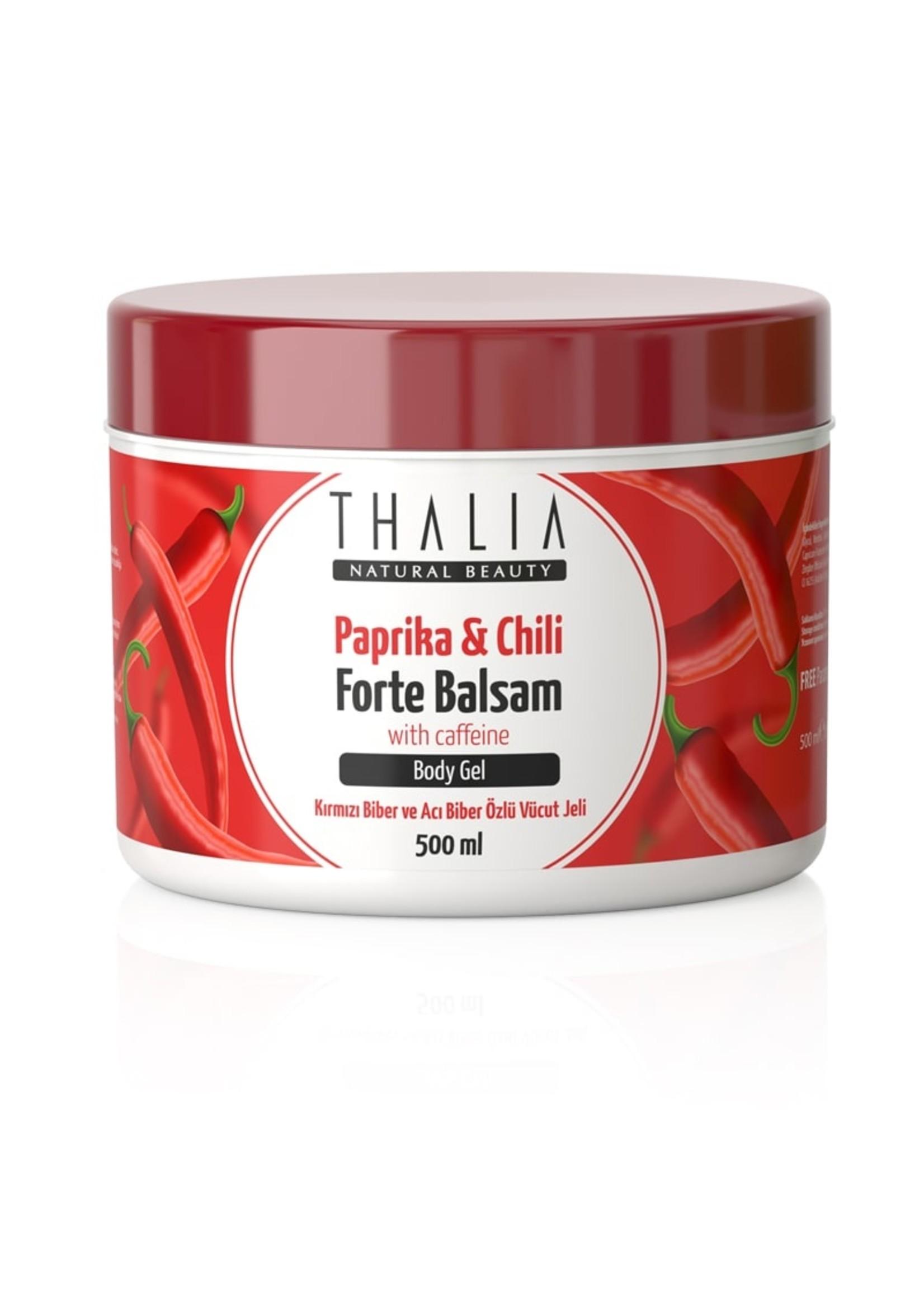 Thalia Kırmızı Biber ve Acı Biber Özlü Masaj Jeli Forte Balsam - 500 ml