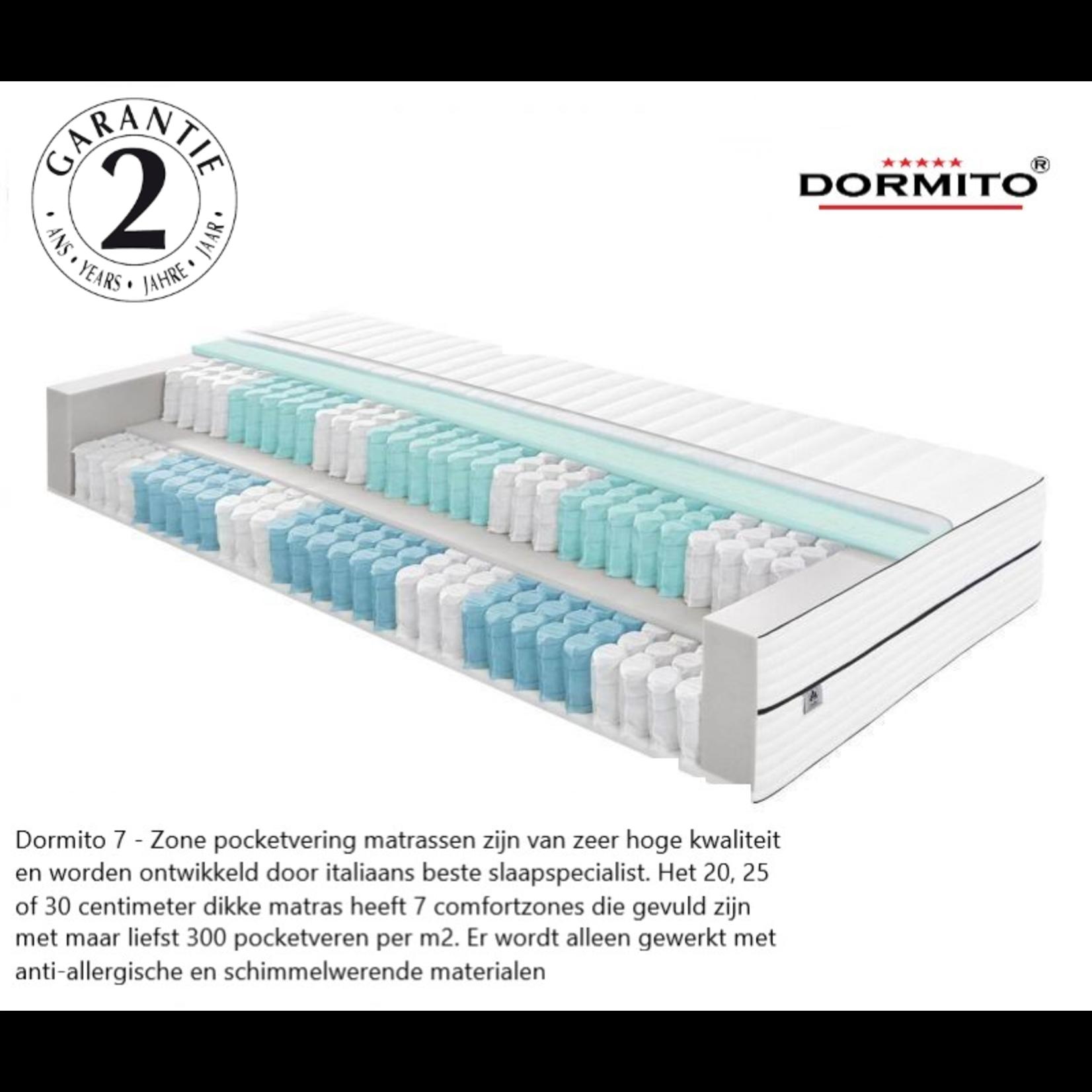 Dormito 7-Zone Pocketvering KOUDSCHUIM matras  20 cm dik