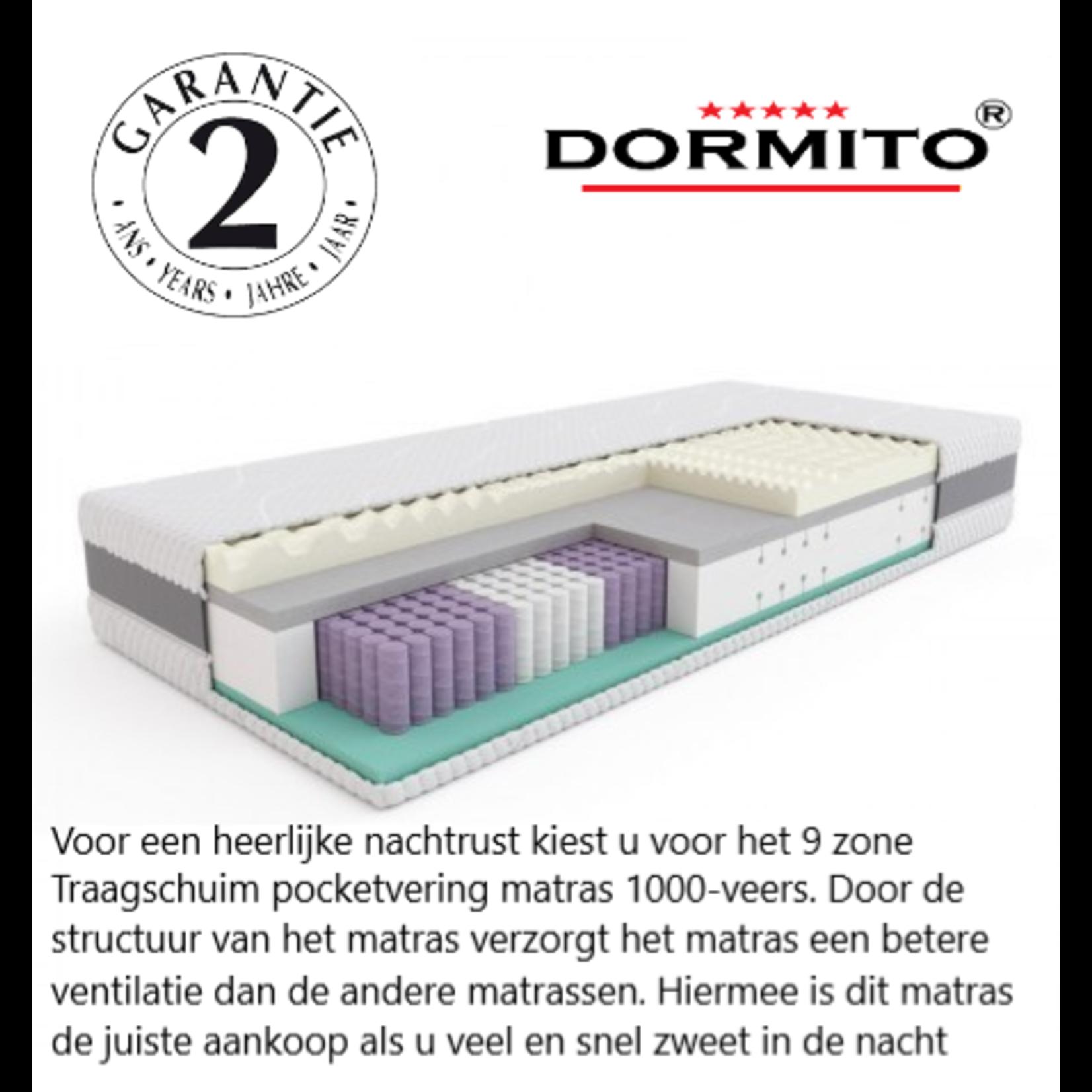 Dormito 9-zone Pocketvering TRAAGSCHUIM 20 cm dik