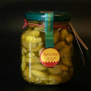 Olive schiacciate, 290 gram, olijven met rode spaanse peper, knoflook, zout en venkel