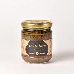 Karlić Tartufi Tartufata, saus op basis van zomerpaddestoelen, truffel, olie, peper en zout