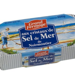 Grand Fermage Beurre aux Cristeaux de Sel de Mer/Gezouten boter met zeezoutkristallen