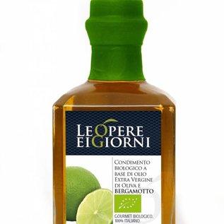 OlioItalia Single estate, extra vergine olijfolieinfusie bergamot - 250ml glazen fles