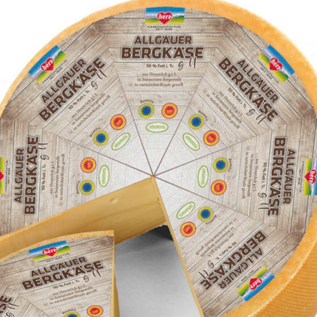 Herz Allgäu mountain cheese with protected ear designation, aged for 12 months, raw milk