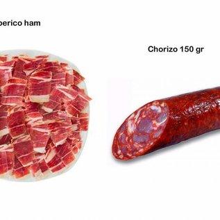 Plato de Iberico cortado a mano plus Chorizo Iberico