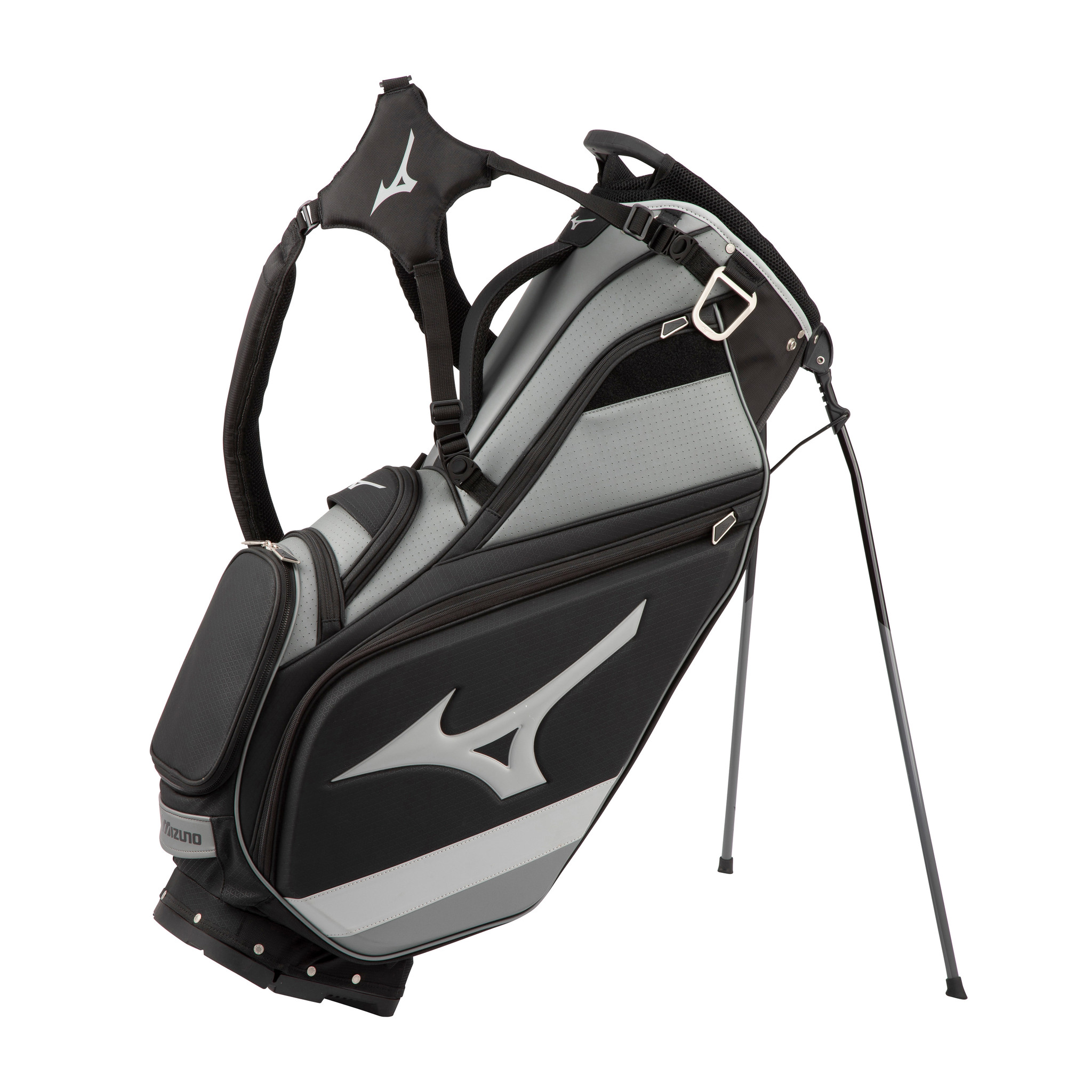 Mizuno Mizuno Tour Stand Bag Staff Black/Grey