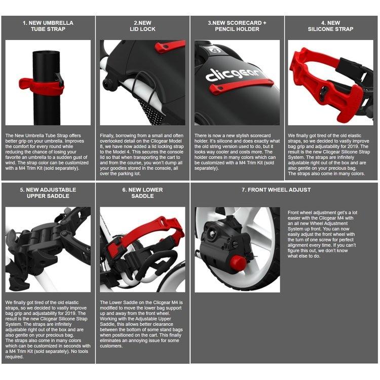 Clicgear Clicgear 4.0 Golftrolley Groen