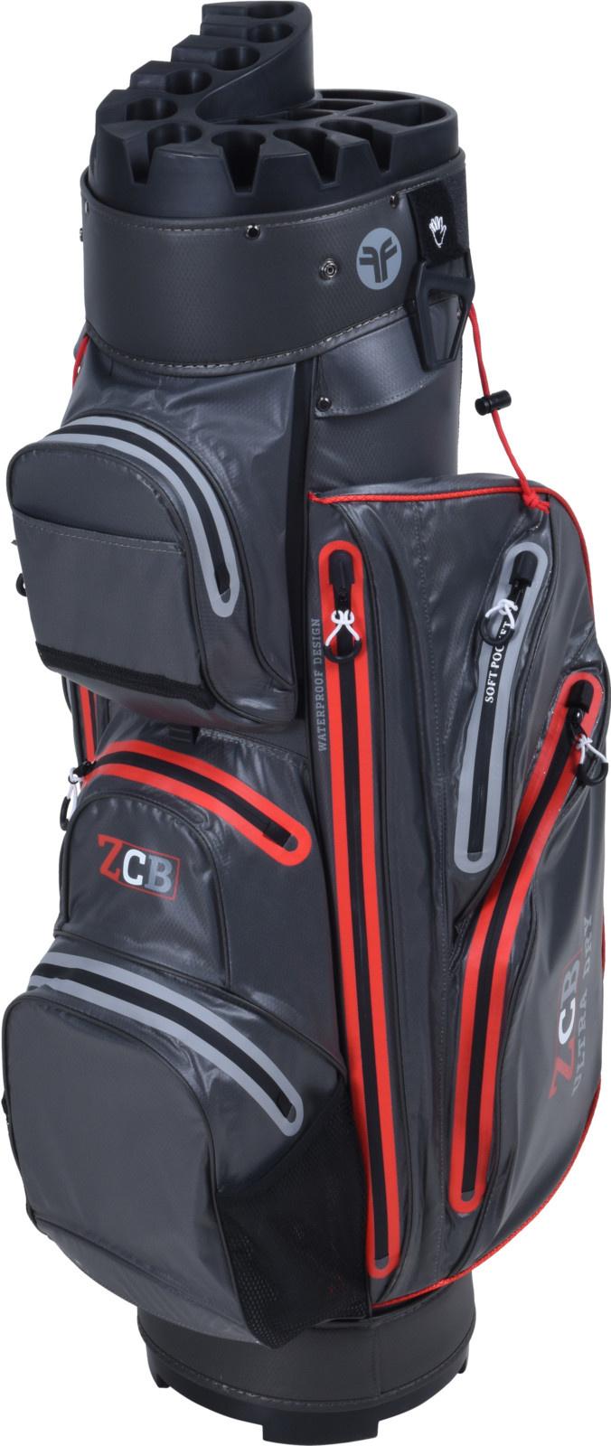 FastFold Fastfold ZCB Waterproof Cart Bag Zwart/Rood