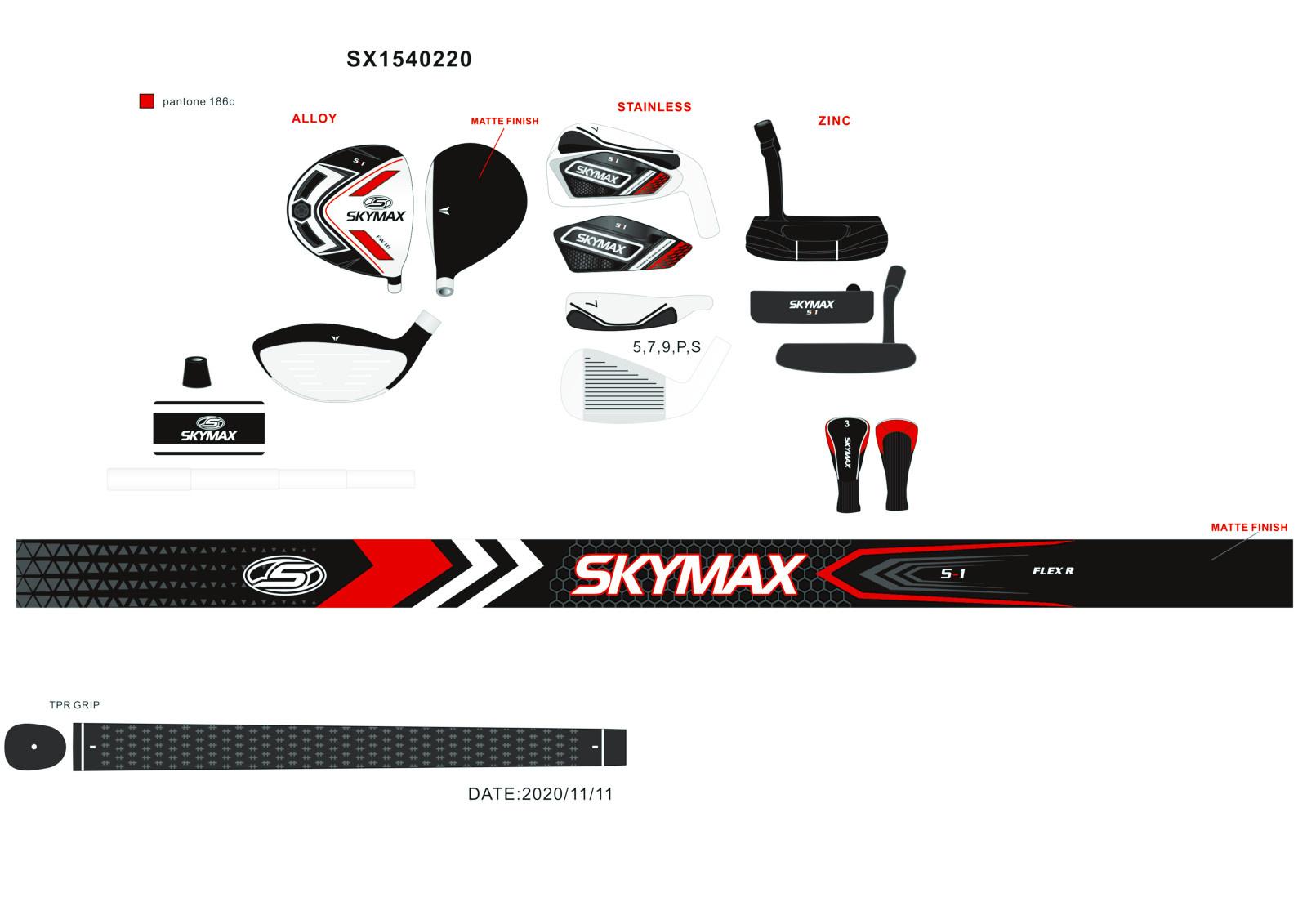 Skymax Skymax S1 Heren Half Set Righthanded Graphite Standard