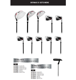 Skymax Skymax S1 Heren Full Set Righthanded Steel+ 1 Inch