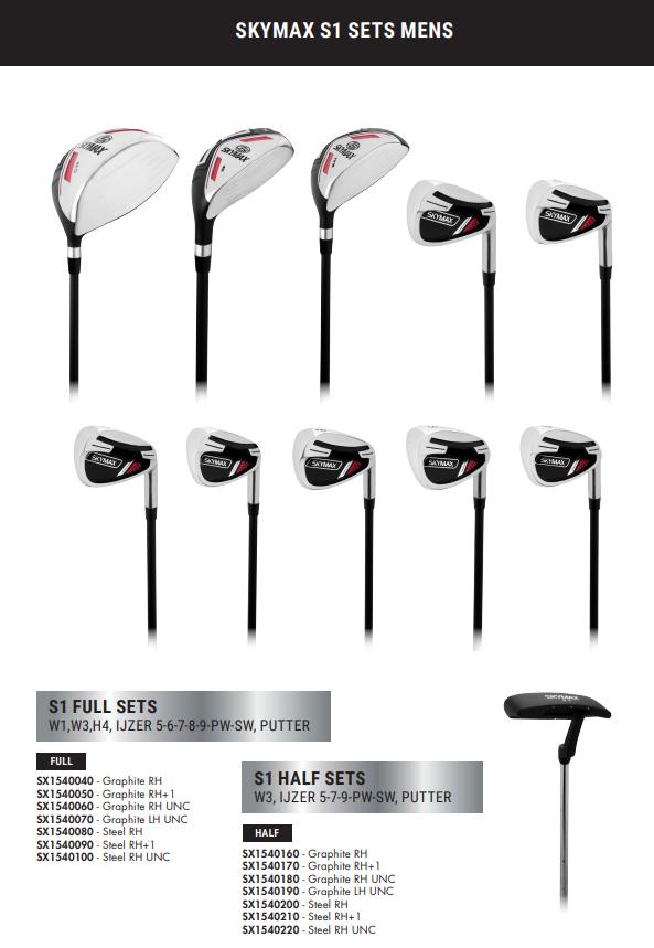 Skymax Skymax S1 Complete Heren Golfset Heren Rechtshandig met Stalen Standaard Lengte