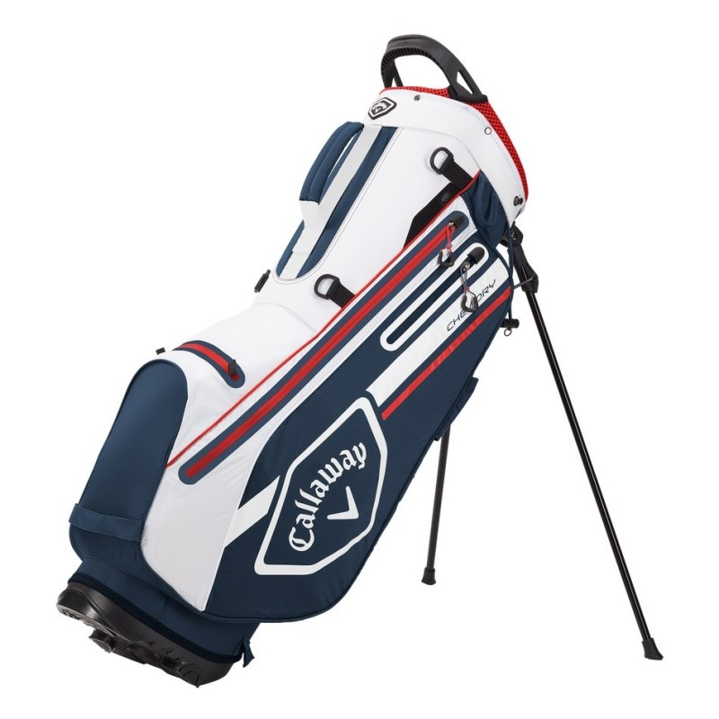 Callaway Callaway Chev Dry Stand Bag Marineblauw Wit Rood