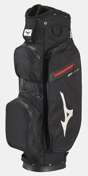 Mizuno Mizuno BR-DRI Waterproof Cart Bag Zwart/Zilver