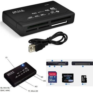 Overig All-in-1 USB 2.0 Geheugenkaartlezer - PC & Mac