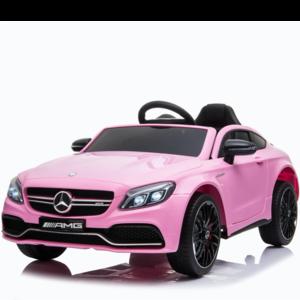 Mercedes Mercedes C63 AMG 12V kinderauto roze