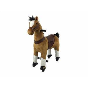 Rollzone MY PONY rijdend speelgoed paard, bruin (klein)