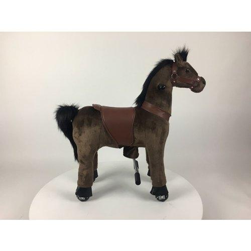 Rollzone MY PONY rijdend speelgoed paard, volledig donker bruin (medium)