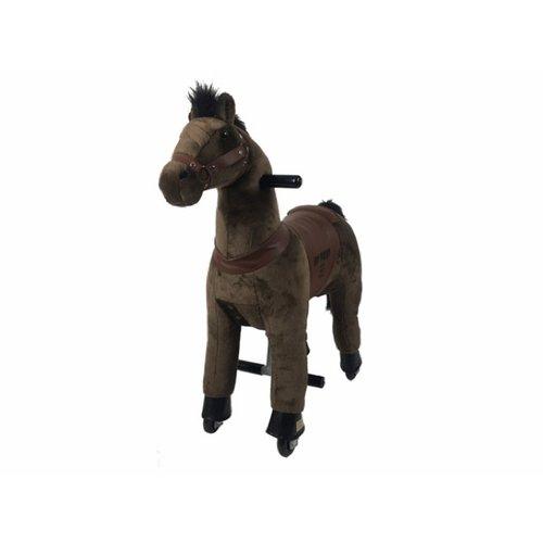 Rollzone MY PONY rijdend speelgoed paard, volledig donker bruin (klein)