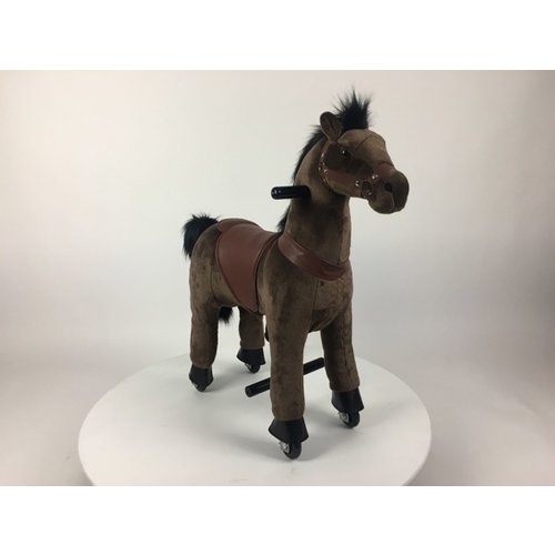 Rollzone MY PONY, rijdend speelgoed paard volledig donker bruin, klein