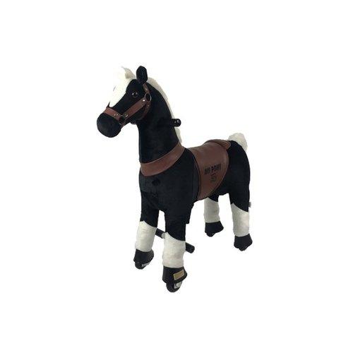 Rollzone MY PONY rijdend speelgoed paard, zwart (klein)