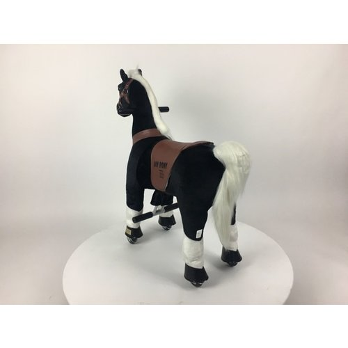 Rollzone MY PONY, rijdend speelgoed paard zwart, klein