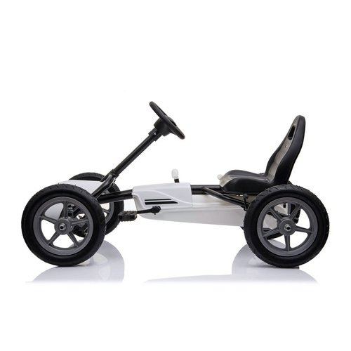 Go Kart with Pneumatic Tires White