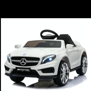 Mercedes Mercedes GLA45 AMG 12V met Rubberen banden en Leren zitje (Wit)