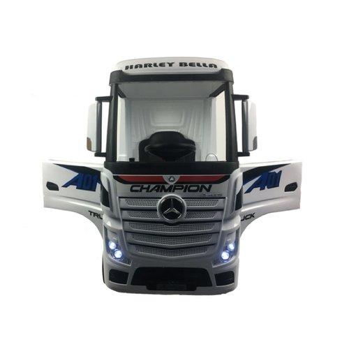 Mercedes kinderauto Mercedes Actros 12V kindervrachtwagen wit