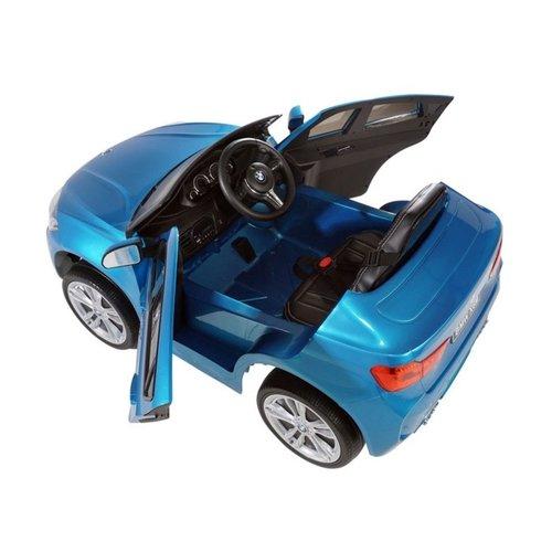 BMW BMW X6M 12V kinderauto metallic blauw