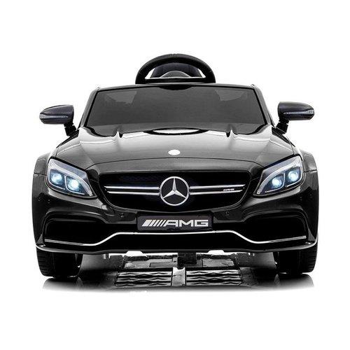 Mercedes Mercedes C63 AMG 12V Kinderauto Metallic Zwart