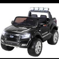 Ford Ranger 12V 2-persoons kinderauto metallic zwart