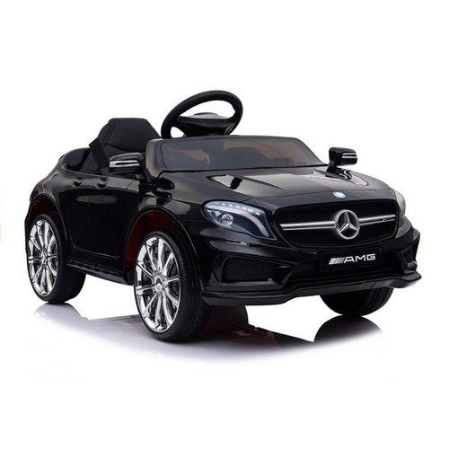 Mercedes Mercedes GLA45 AMG 12V met Rubberen banden en Leren zitje (Zwart)