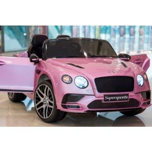 Bentley kinderauto Bentley Continental 12V 2-persoons Kinderauto Metallic Roze