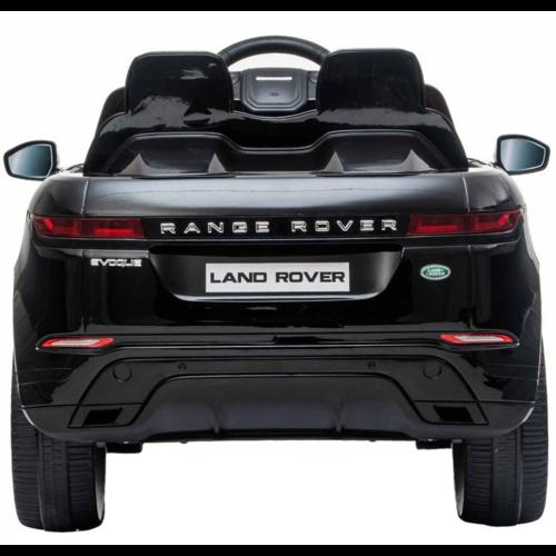 Range Rover Range Rover Evoque 12V Rubberen banden, Leren zitje en Bluetooth (Zwart)
