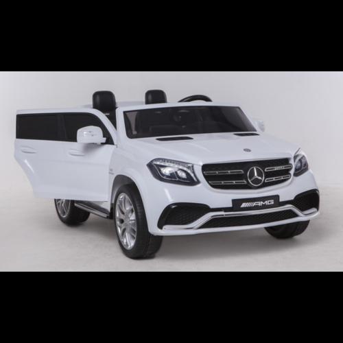 Mercedes kinderauto Mercedes Benz GLS63 AMG 12V 2-persoons kinderauto wit