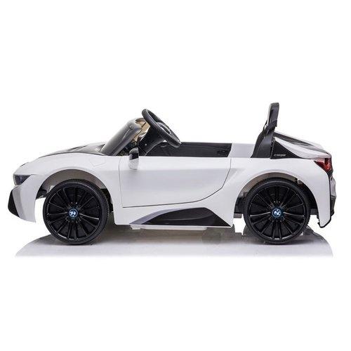 BMW kinderauto BMW i8 Coupe 12V kinderauto wit