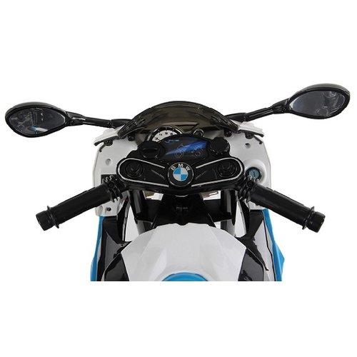 BMW kinderauto BMW S1000RR 12V Kindermotor Blauw-Wit