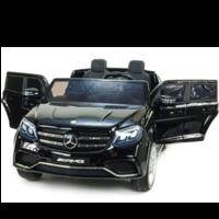 Mercedes Benz GLS63 AMG 12V 2-persoons kinderauto zwart