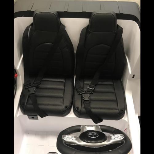 Mercedes kinderauto Mercedes G63 AMG 24V 2-persoons kinderauto wit