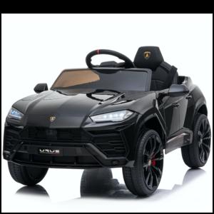 Lamborghini Lamborghini URUS 12V met Rubberen banden en Leren zitje (Zwart)