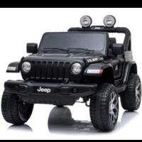 Jeep Wrangler Rubicon 12V Kinderauto Zwart