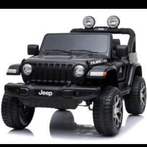 Jeep kinderauto Jeep Wrangler Rubicon 12V Kinderauto Zwart