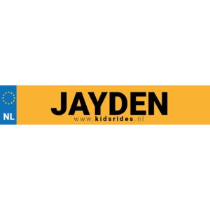 Plate sticker with name (Netherlands)