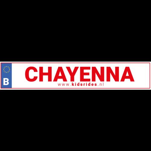 Belgische kenteken stickers met naam