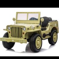 Willy's Jeep Army 12V kinderauto beige