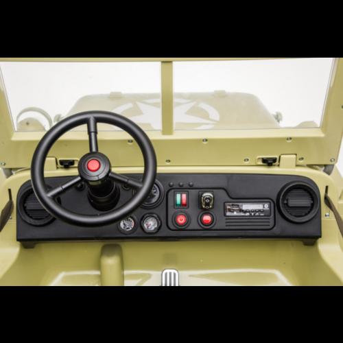 Jeep kinderauto Willy's Jeep Army 12V kinderauto beige