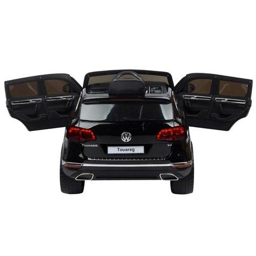 Volkswagen Volkswagen Touareg 12V met rubberen banden en Leren zitje (Zwart)