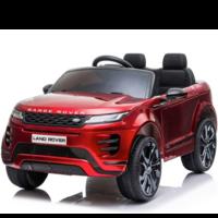 Range Rover Evoque 12V Rubberen banden, Leren zitje en Bluetooth (Rood)